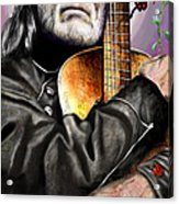 Believing In Rainbows And Butterflies-being Willie Acrylic Print