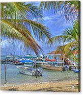 Belize Hdr Acrylic Print
