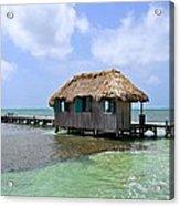 Belize Pier And Seascape Acrylic Print