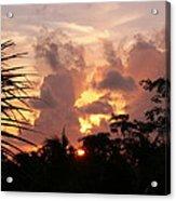 Belizean Sunset Acrylic Print