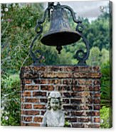 Bell Brick And Statue Acrylic Print
