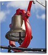 Bell On Steam Engine Acrylic Print