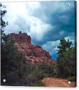 Bell Rock Drama Sky Acrylic Print