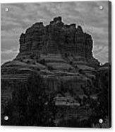 Bell Rock In Black White Acrylic Print