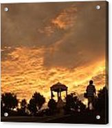 Bell Tower At Sunset Acrylic Print