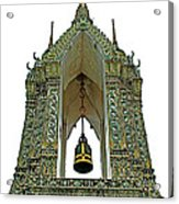 Bell Tower In Wat Po In Bangkok-thailand Acrylic Print