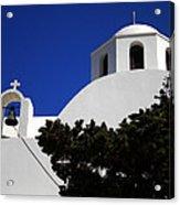 Bella Santorini Island Church Greece  Acrylic Print