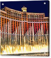 Bellagio Water Show Acrylic Print