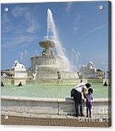 Belle Isle Fountain Splash Acrylic Print