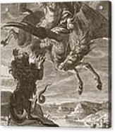 Bellerophon Fights The Chimaera, 1731 Acrylic Print