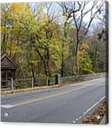 Bells Mill Road In Autumn Acrylic Print