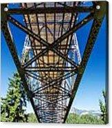 Below A Bridge Acrylic Print