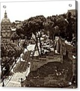 Below The Capitoline Hill Acrylic Print