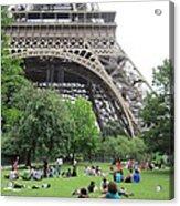 Below The Eiffel Tower Acrylic Print