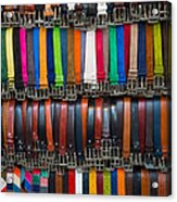 Belts Galore Acrylic Print