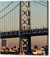 Ben Franklin Bridge Over Delaware River Acrylic Print