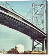 Ben Franklin Bridge Acrylic Print