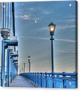 Ben Franklin Bridge Walkway Acrylic Print