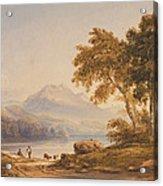 Ben Vorlich And Loch Lomond Acrylic Print by Anthony Vandyke Copley Fielding