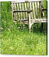 Bench At Hillstead Acrylic Print