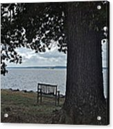 Bench At Old Jamestown Acrylic Print