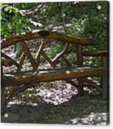 Bench Made Of Tree Branches Acrylic Print
