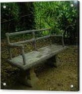 Bench Acrylic Print by Jennifer Burley