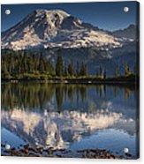 Bench Lake Sunrise Acrylic Print