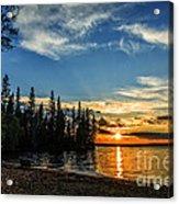 Beautiful Sunset At Waskesiu Lake Acrylic Print
