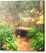 Bench - Privacy  Acrylic Print by Mike Savad