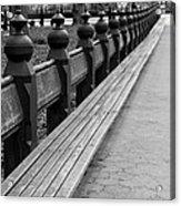 Bench Row Black And White Acrylic Print