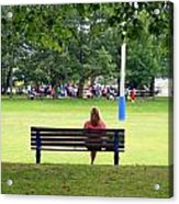 Bench Thoughts Acrylic Print