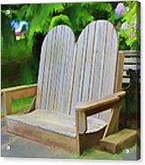 Benches Acrylic Print