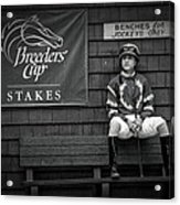 Benches For Jockeys Only Acrylic Print