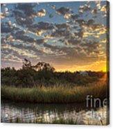 Bend In The Bayou Sunrise Acrylic Print
