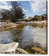 Bend In The Breamish River Acrylic Print