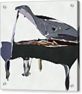 Bendy Piano Acrylic Print by David Ridley