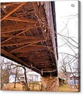 Beneath Euharlee Covered Bridge Acrylic Print