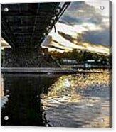 Beneath The New Hope - Lambertville Bridge Acrylic Print