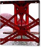 Beneath The Golden Gate Acrylic Print