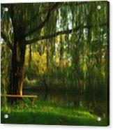 Beneath The Willow Acrylic Print