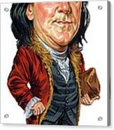 Benjamin Franklin Acrylic Print by Art