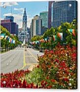 Benjamin Franklin Parkway  Acrylic Print