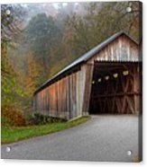Bennett Mill Covered Bridge Acrylic Print