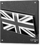 Bentley Badge In Black Acrylic Print