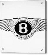 Bentley Emblem -0082c Acrylic Print