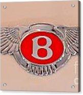 Bentley Emblem Acrylic Print