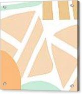 Bento 3- abstract shapes art Acrylic Print