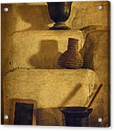Bent's Old Fort Kitchen Fireplace Acrylic Print