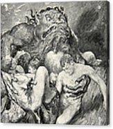 Beowulf Print Acrylic Print by John Henry Frederick Bacon